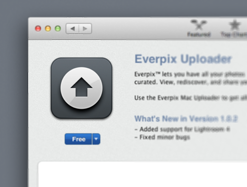 Everpix Uploader 1.2.4 Mac software screenshot