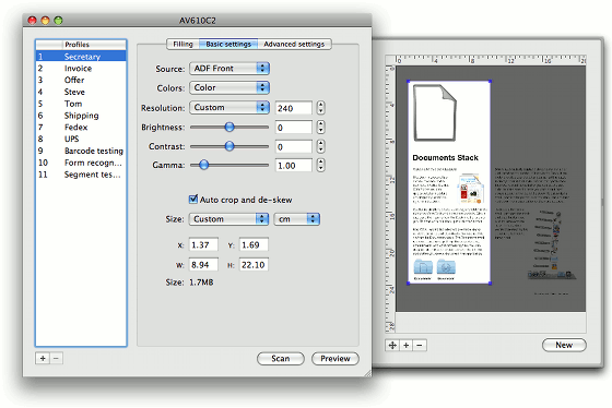 ExactScan 2.24.1 Mac software screenshot