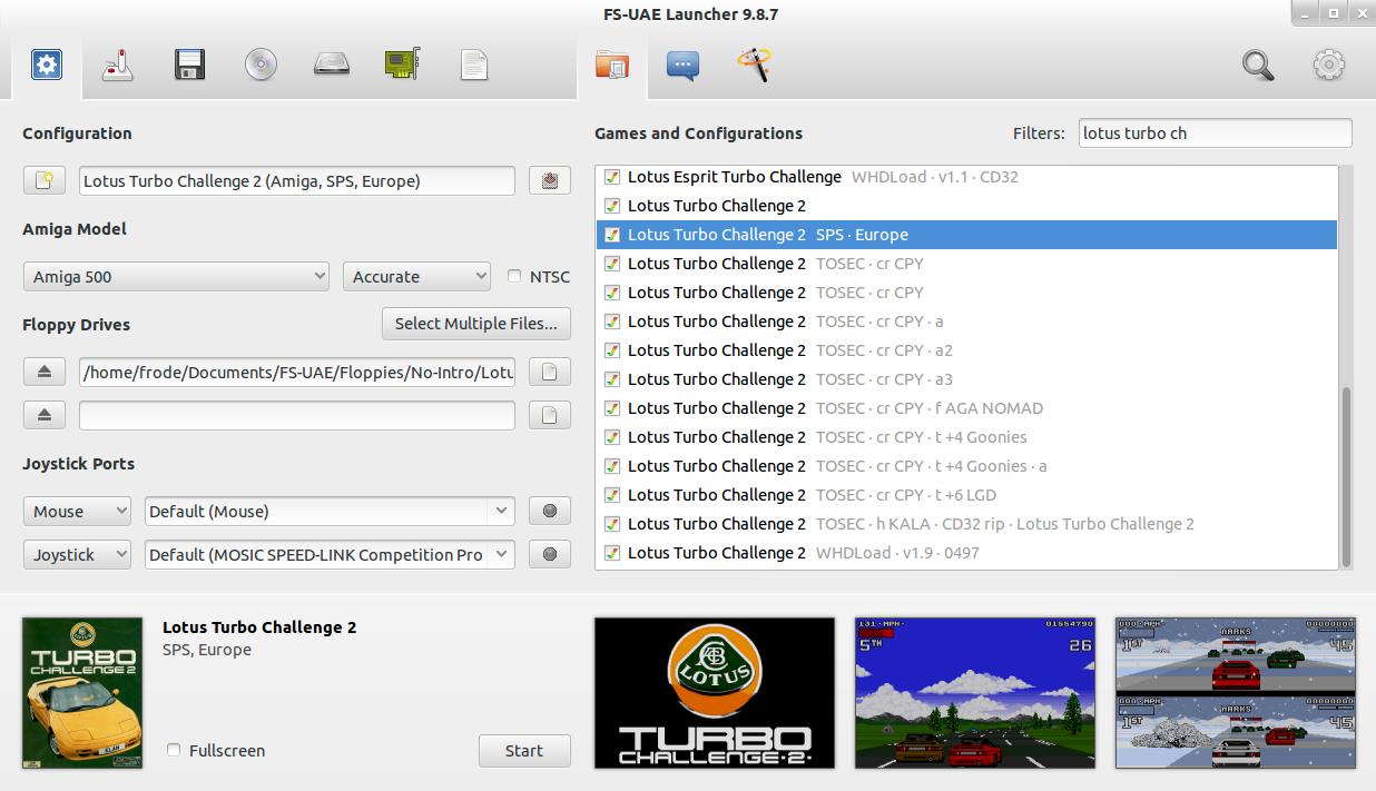 FS-UAE 2.0.1 Mac software screenshot