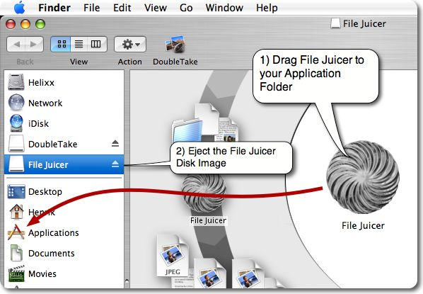 File Juicer 4.36 Build 804 Mac software screenshot