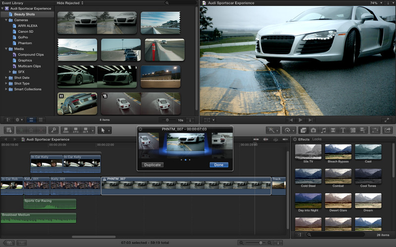 Final Cut Pro 10.1.3 Mac software screenshot