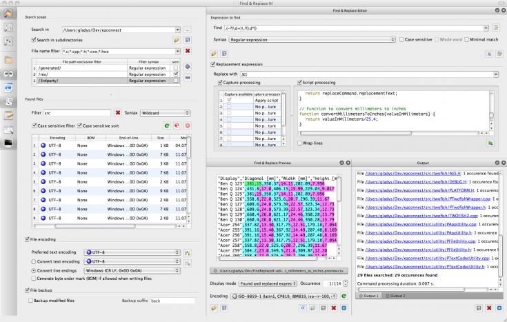 Find & Replace It! 2.0.8 Mac software screenshot
