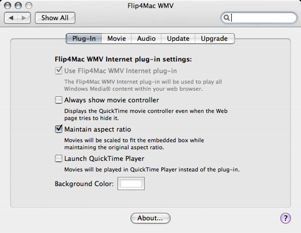 Flip4Mac WMV 3.2.0.16 Mac software screenshot