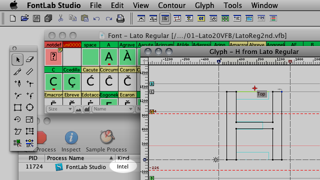 FontLab Studio 5.1.4 Build 4836 Mac software screenshot