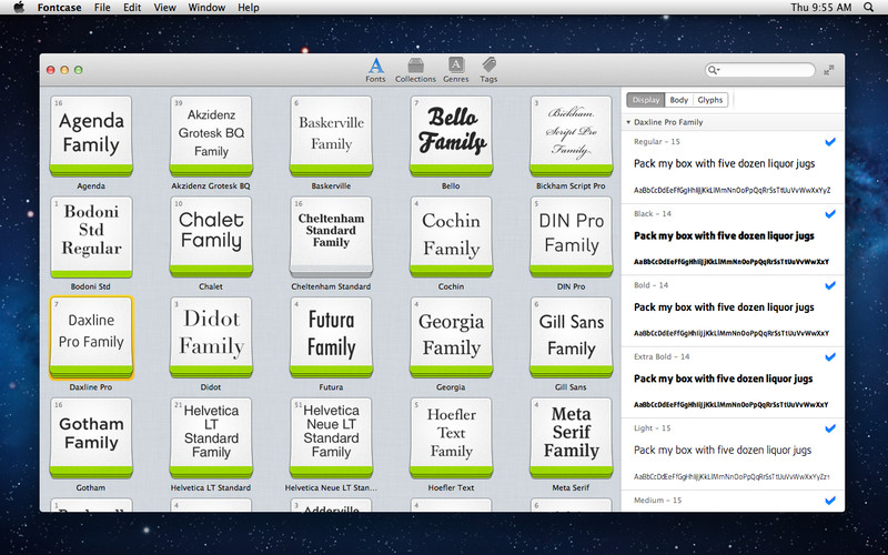 Fontcase 2.1.8 Mac software screenshot