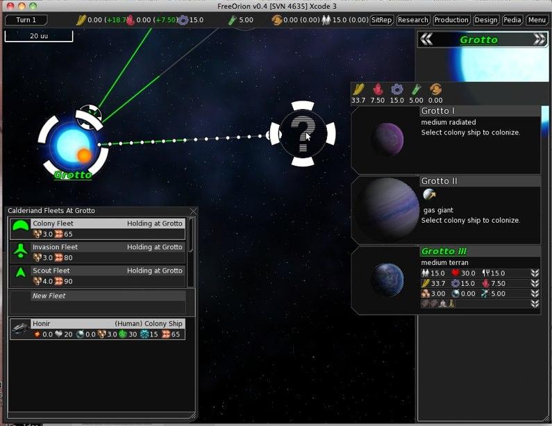 FreeOrion 0.4.2 Mac software screenshot