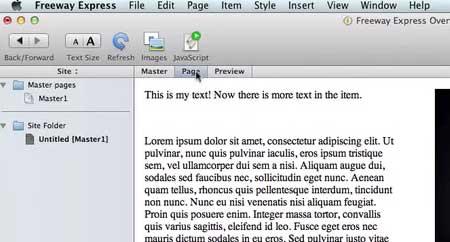 Freeway Express 6.0.7 Mac software screenshot