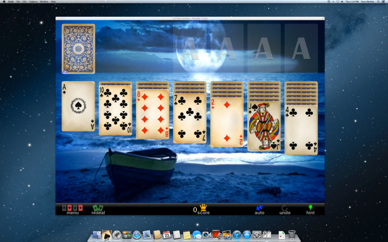 Full Deck Solitaire 1.56 Mac software screenshot