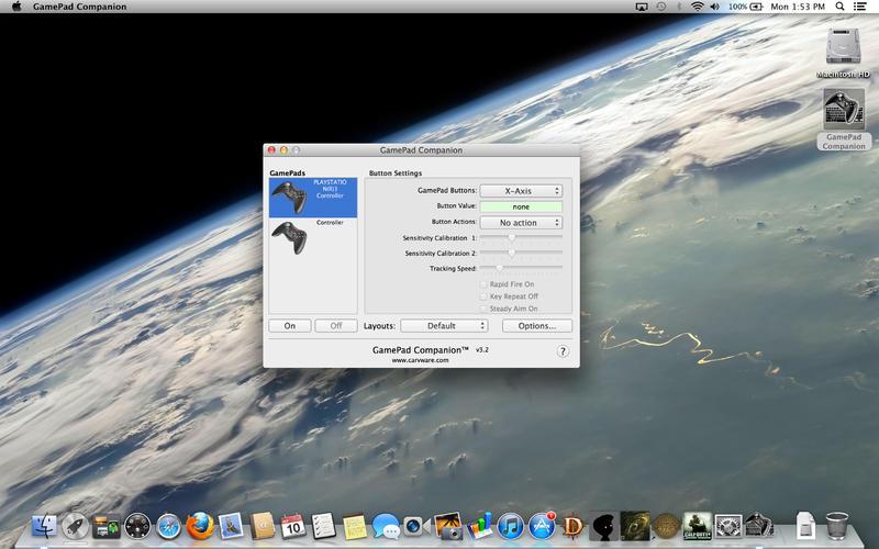 GamePad Companion 3.3.1 Mac software screenshot