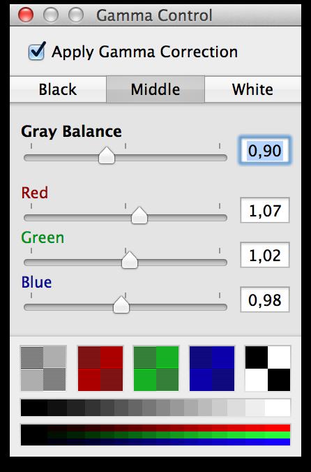 Gamma Control 4.0.1 Mac software screenshot