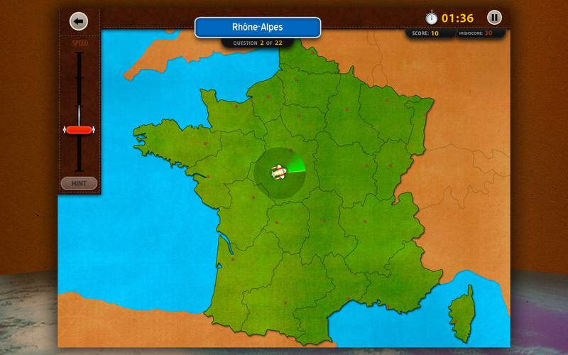 GeoFlight France 1.0 Mac software screenshot