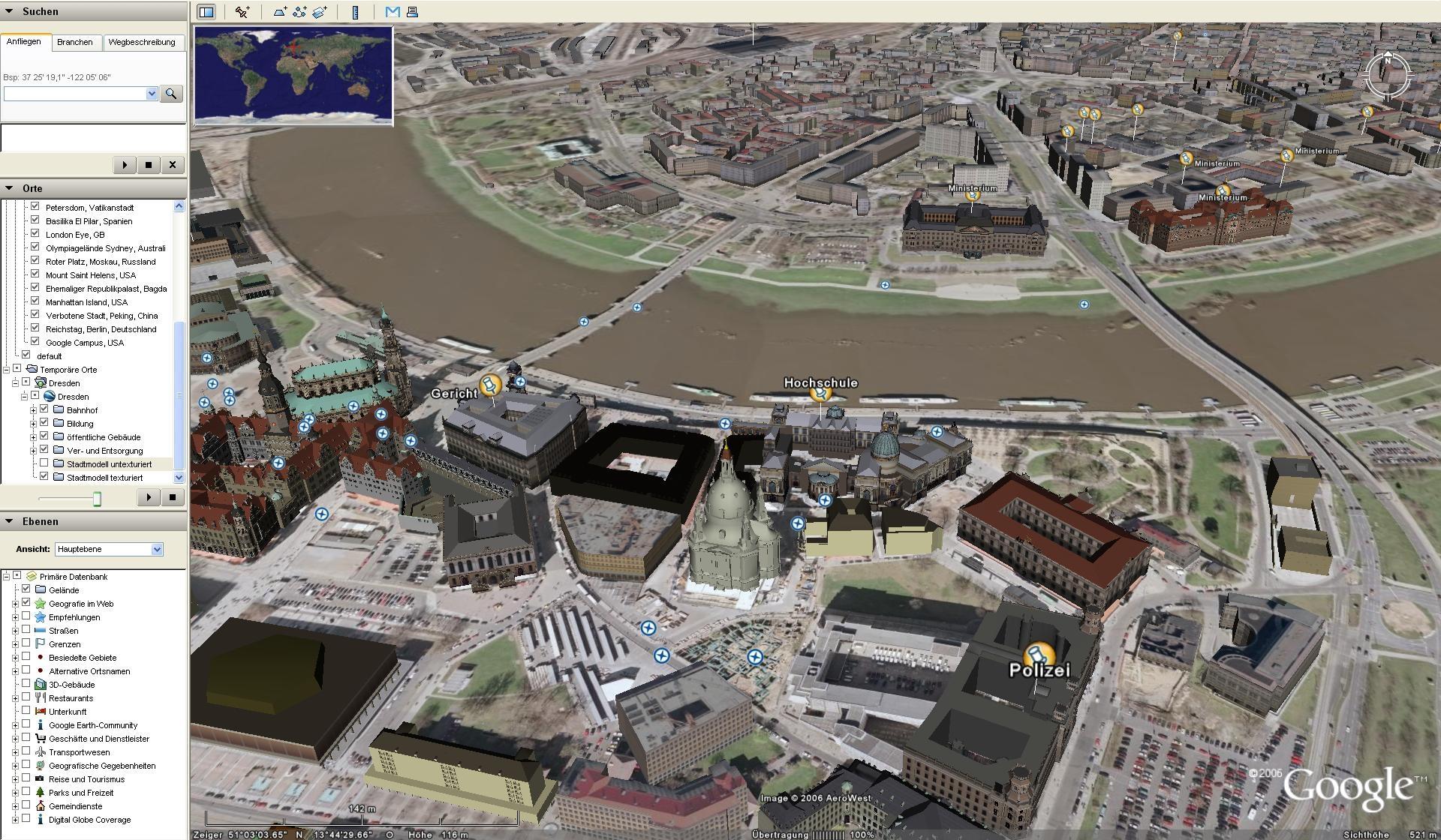 Google Earth 7.1.2.2041 Mac software screenshot