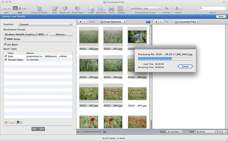 GraphicConverter 9.3.1674 Mac software screenshot