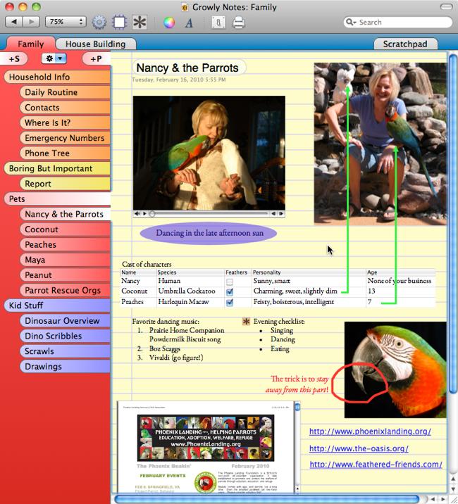 Growly Notes 1.2.13 Mac software screenshot