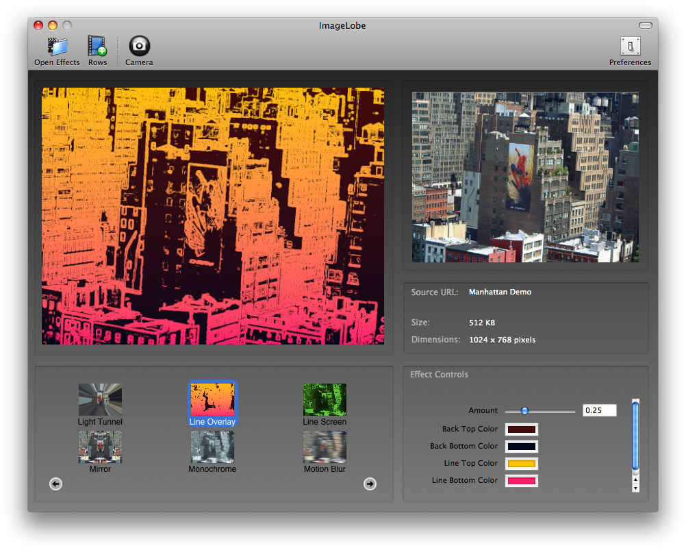 ImageLobe 5.1 Build 63 Mac software screenshot