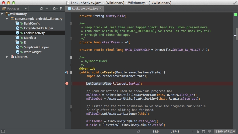 IntelliJ IDEA 12.0.3 Build 123.155 Mac software screenshot