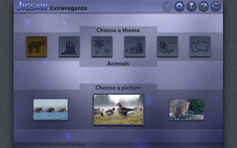Jigsaw Extravaganza 1.1 Mac software screenshot