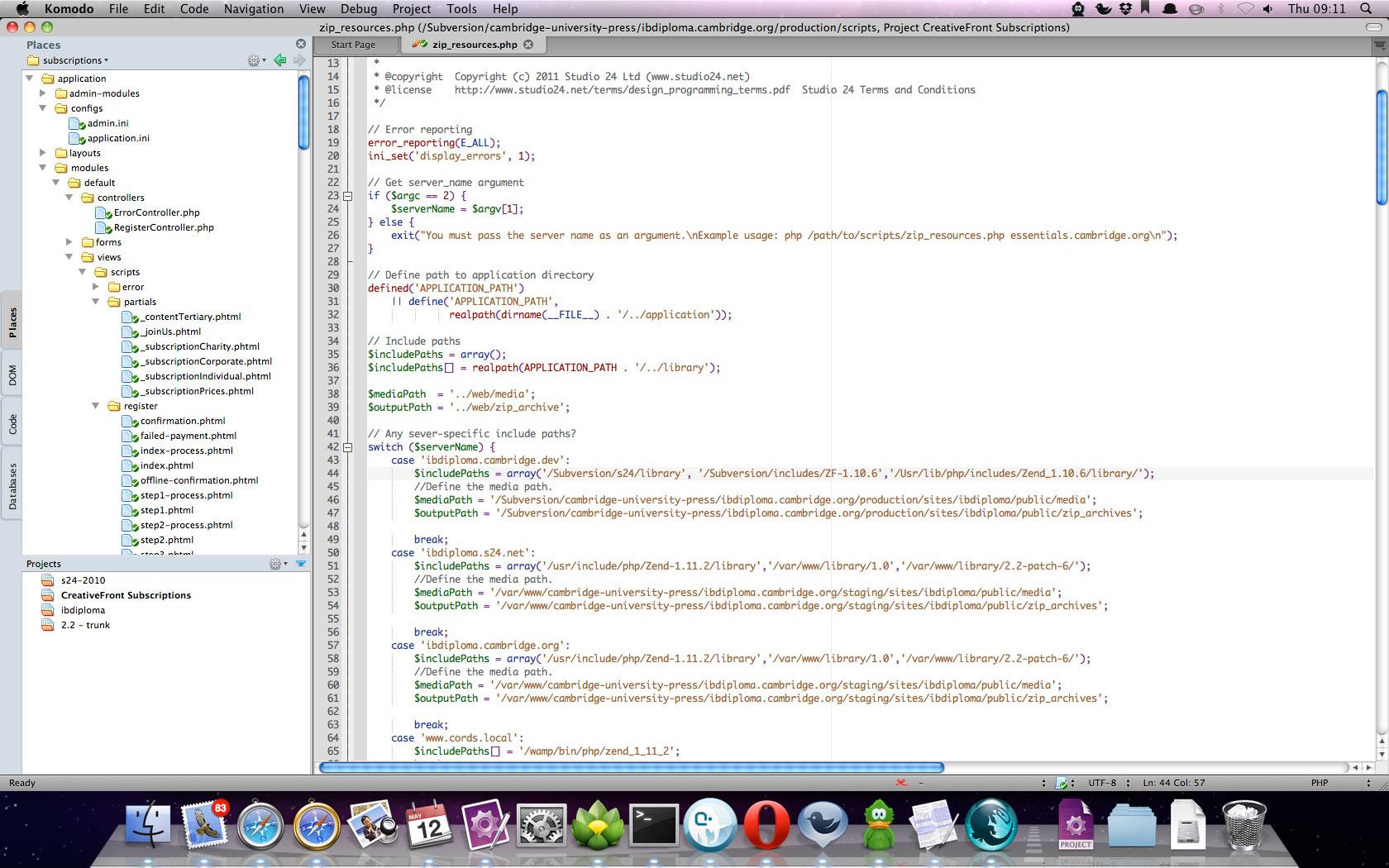 Komodo IDE 8.5.3.83298 Mac software screenshot