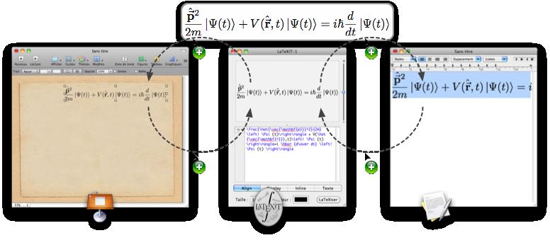 LaTeXiT 2.6.1 Mac software screenshot