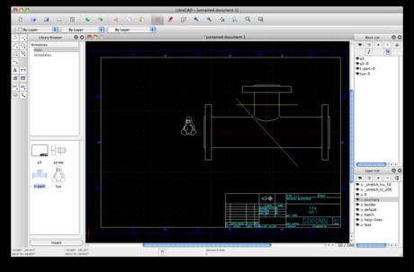 LibreCAD 2.0.4 Mac software screenshot