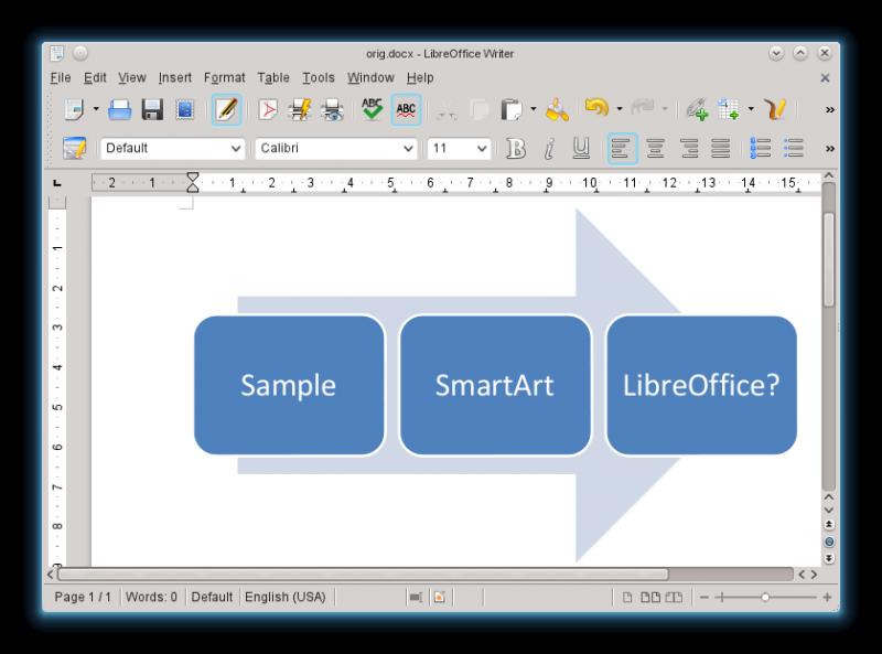 LibreOffice 4.2.4 Mac software screenshot