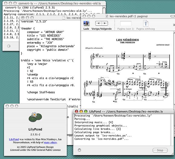 LilyPond 2.18.2 Mac software screenshot