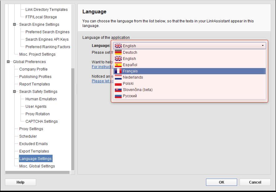 LinkAssistant 4.7.3 Mac software screenshot