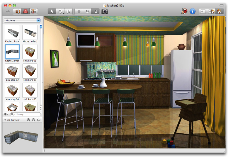 Live Interior 3D Pro 2.9.3 Build 592 Mac software screenshot