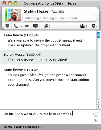 Lync for Mac 14.0.7 Mac software screenshot