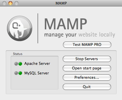 MAMP 3.0.2 Mac software screenshot