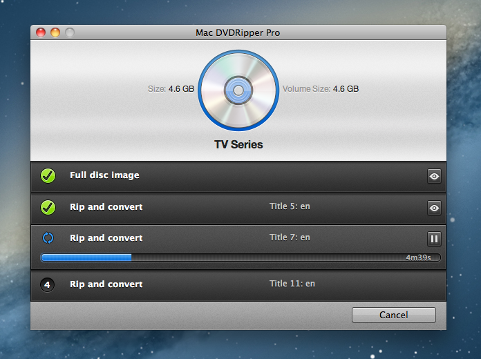 Mac DVDRipper Pro 4.0.6 Mac software screenshot