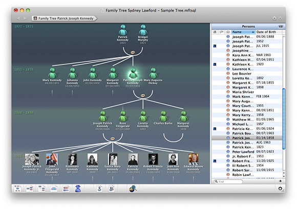 MacFamilyTree 7.2.1 Mac software screenshot
