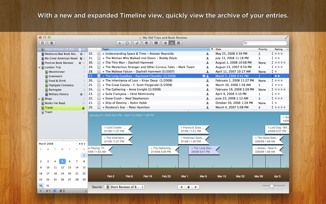 MacJournal 6.0.10 Mac software screenshot