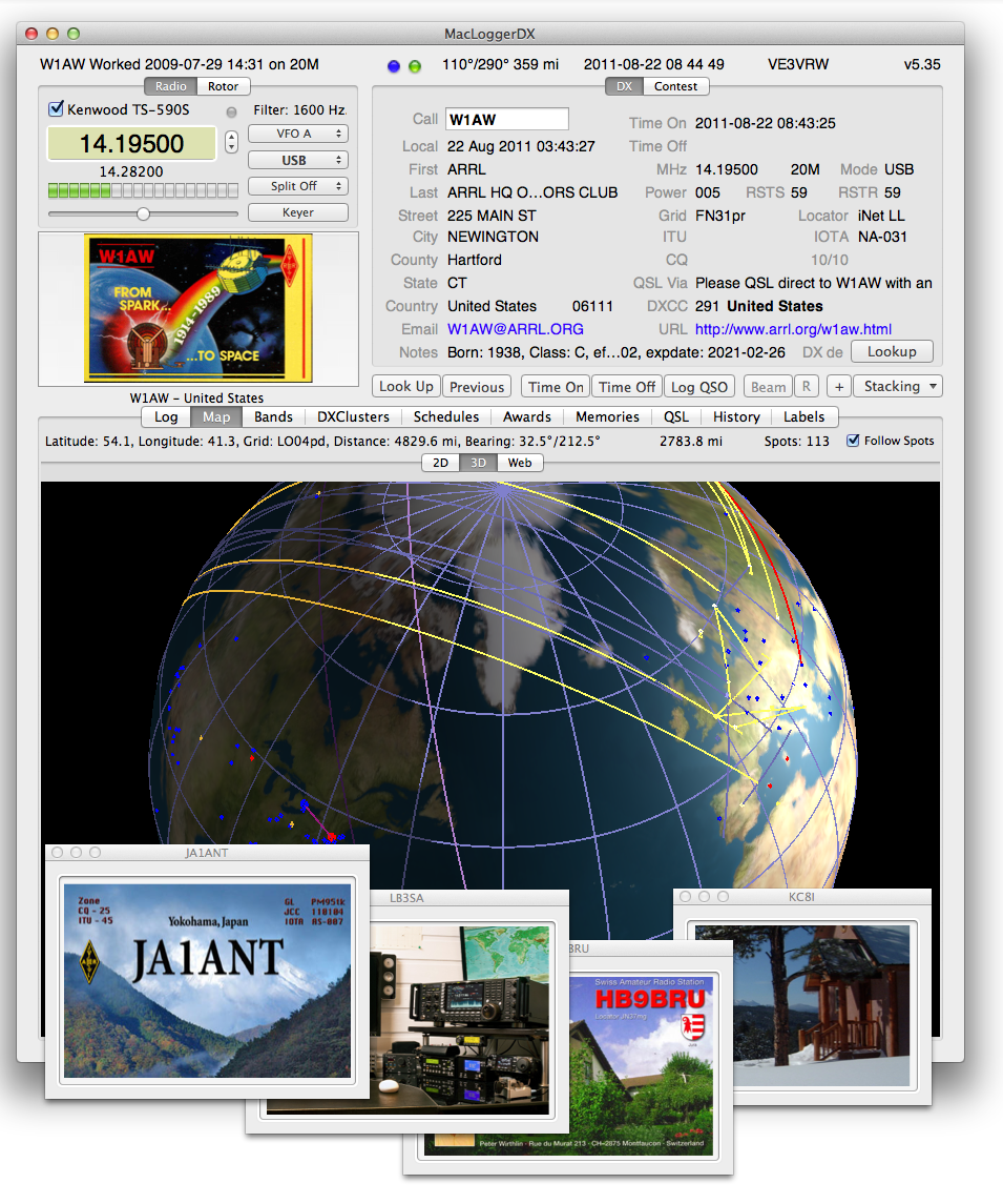 MacLoggerDX 5.46 Mac software screenshot