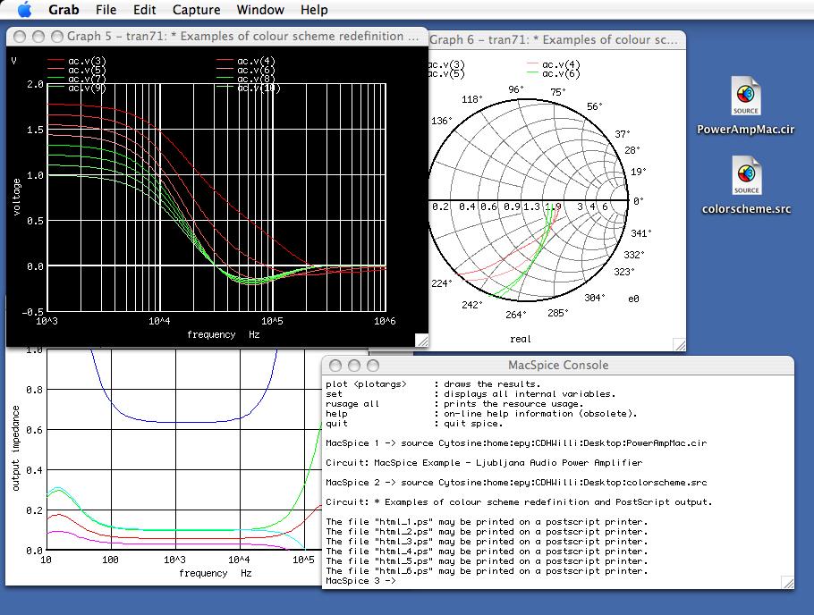 MacSpice 3f5 2.10.33 Mac software screenshot