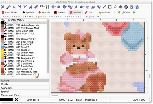 MacStitch 2014 8.9 Mac software screenshot