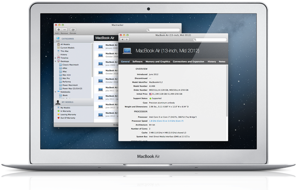 MacTracker 7.3.2 Mac software screenshot