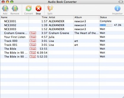 Macsome AudioBook Converter 2.0.2 Mac software screenshot