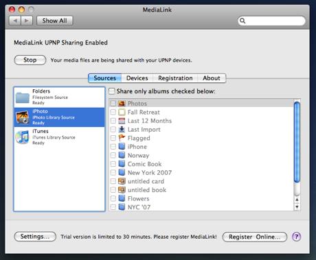 MediaLink 2.67 Mac software screenshot
