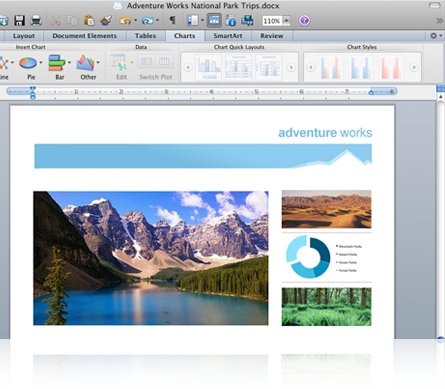 Microsoft Office 2011 14.3.9 Mac software screenshot