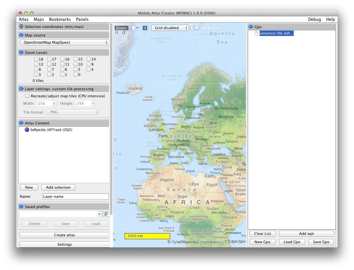 Mobile Atlas Creator 1.9.14 Mac software screenshot