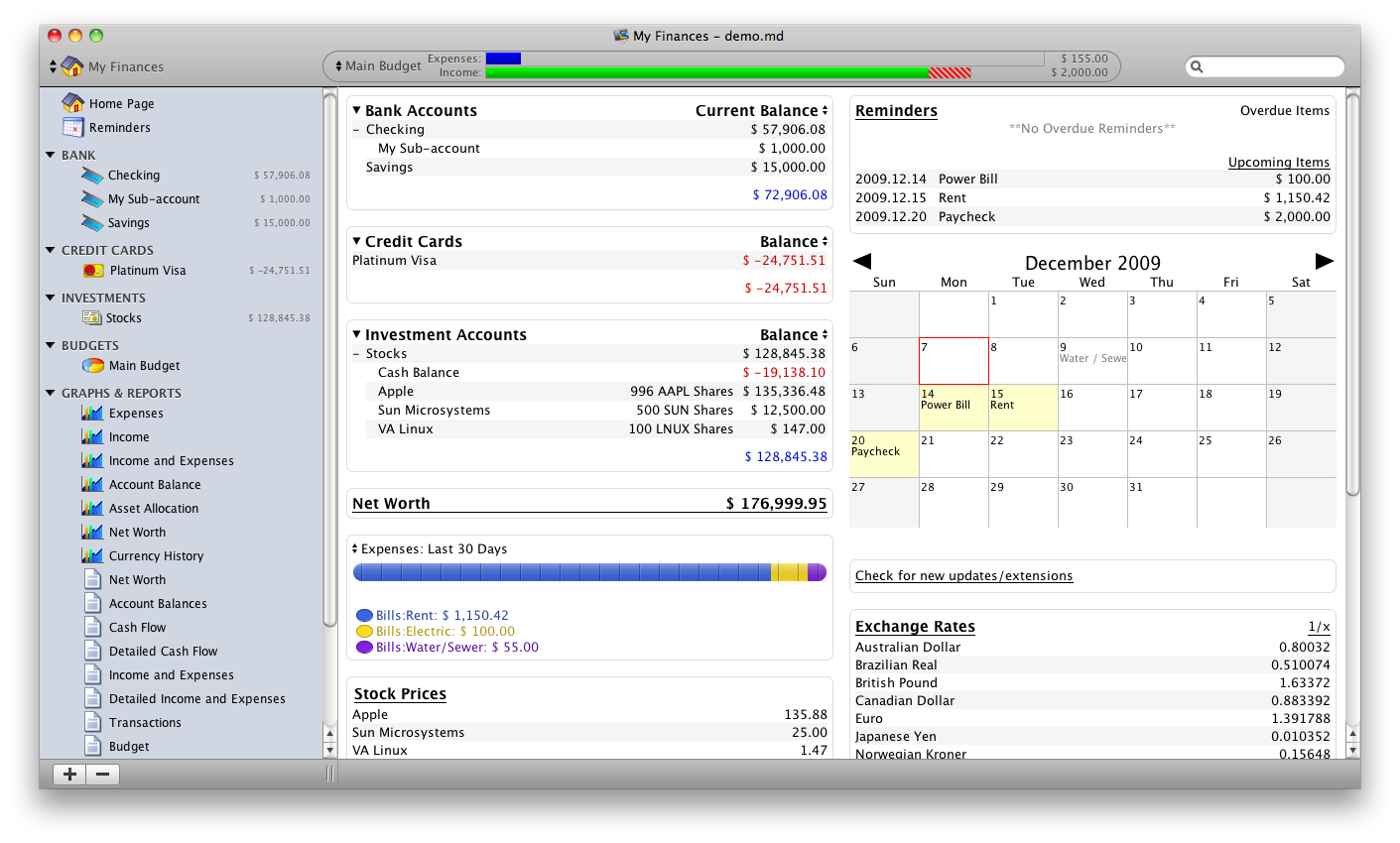 Moneydance 2014.4.967 Mac software screenshot