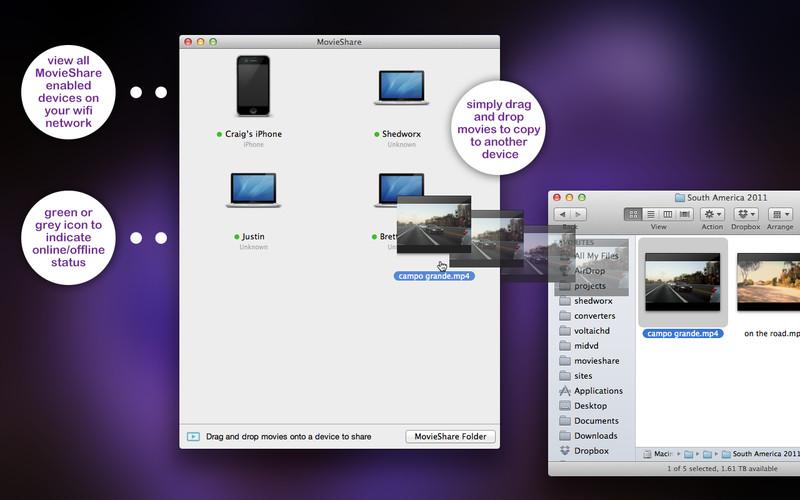 MovieShare 1.0.1 Mac software screenshot