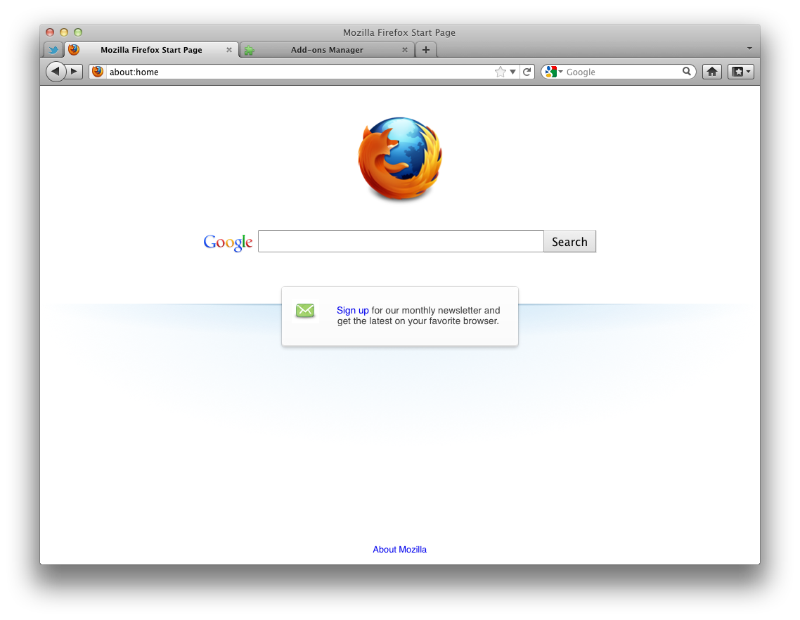 Mozilla Firefox 35.0 Mac software screenshot