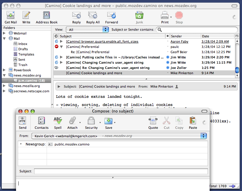 Thunderbird 24.5.0 Mac software screenshot