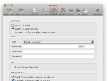 Mumble 1.2.8 Mac software screenshot