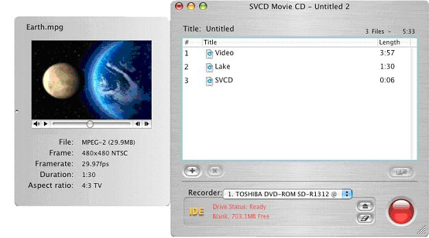 NTI Dragon Burn 4.5.0.39 Mac software screenshot