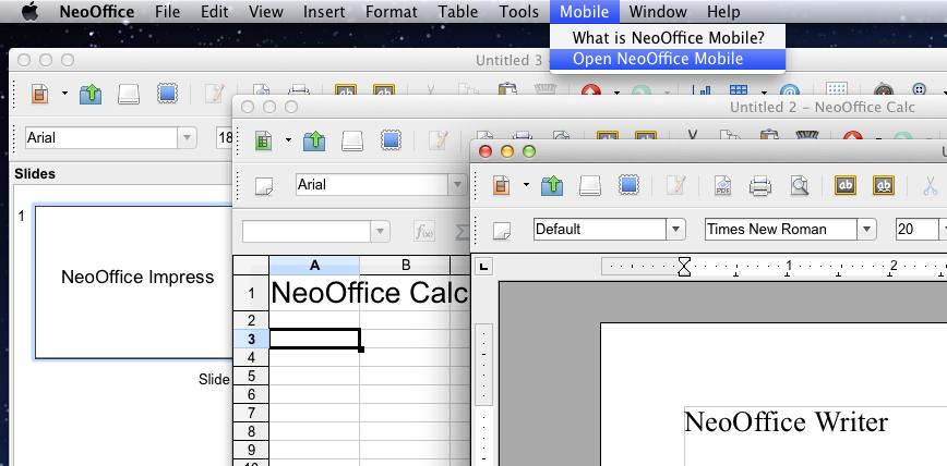 NeoOffice 2014.2 Mac software screenshot