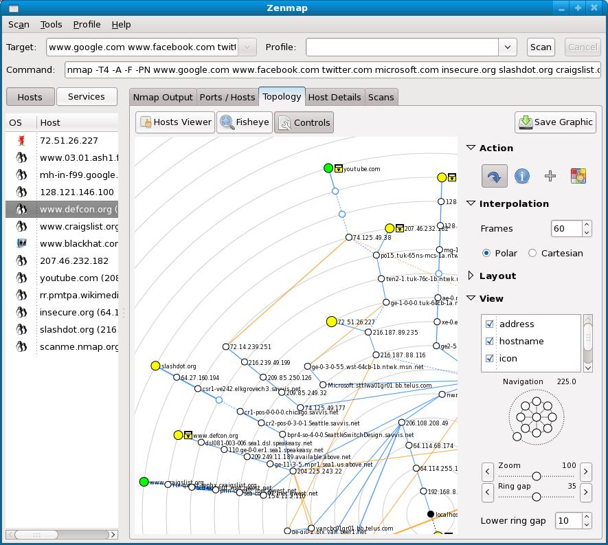 Nmap 6.40-2 Mac software screenshot
