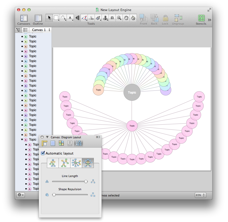 OmniGraffle Pro 5.4.4 Mac software screenshot